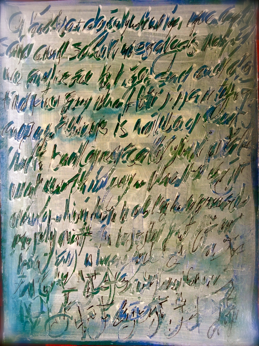 Cheryl Penn Asemic Writing - Letter # 3