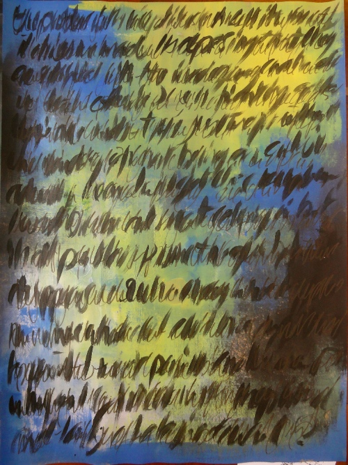 Asemic Writing.  Cheryl Penn.  An Encyclopedia of Everything 1
