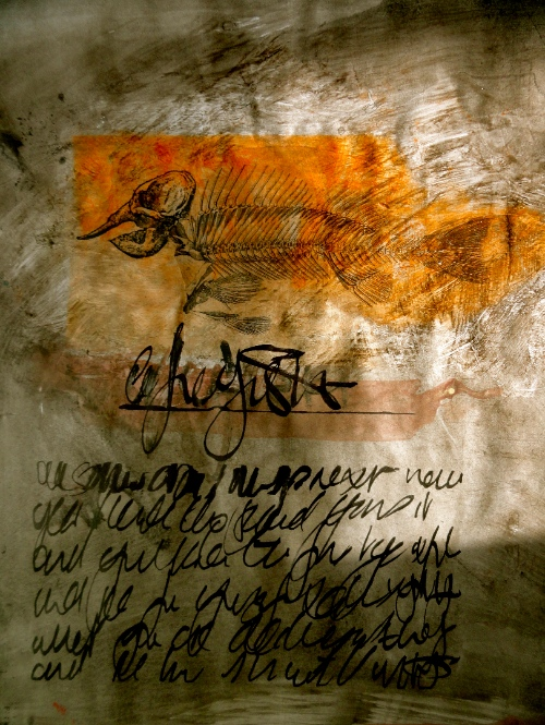 Asemic animal Cheryl Penn