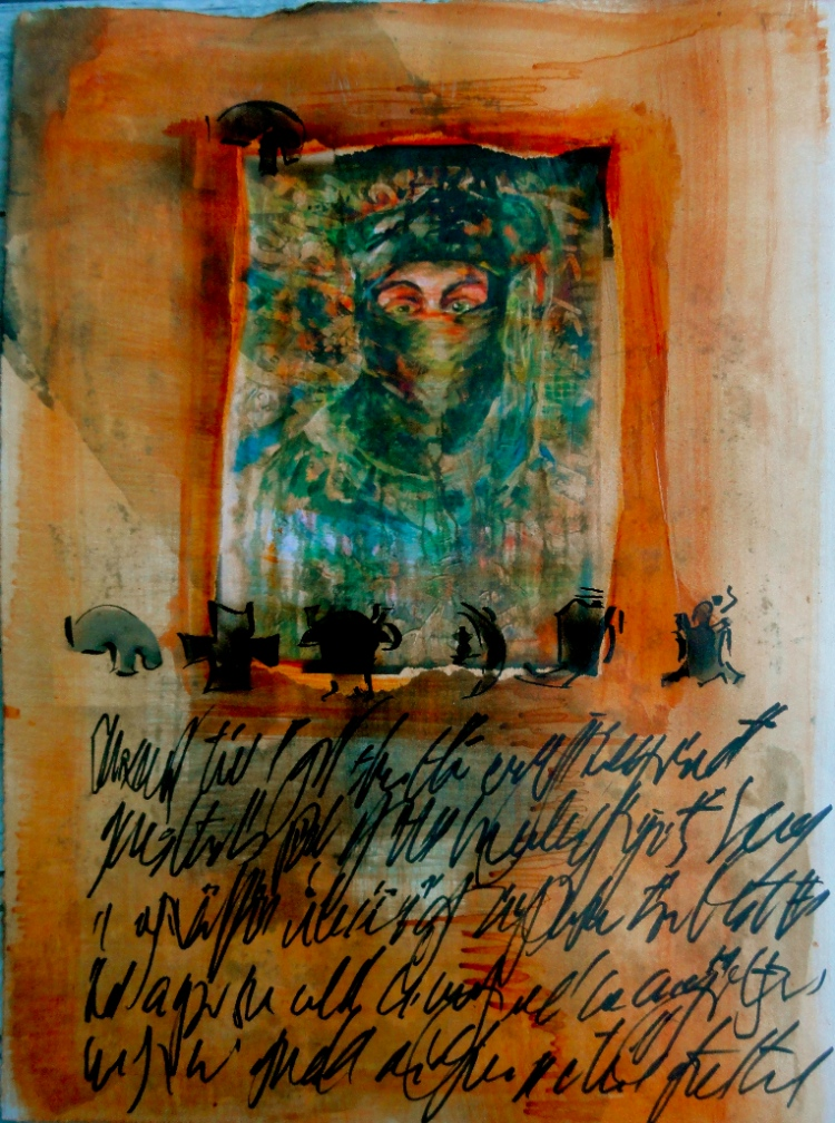 Bhubezi Mythology - The Women Who Hold Up the World.  Cheryl Penn.  Artists Book 12