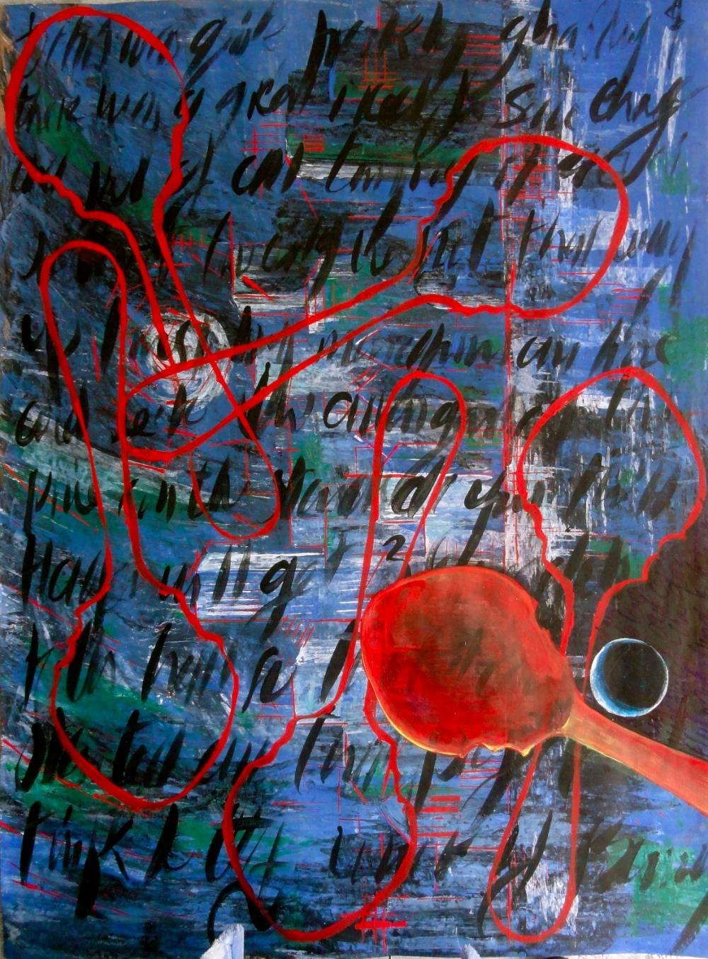 Cheryl Penn Asemic Painting