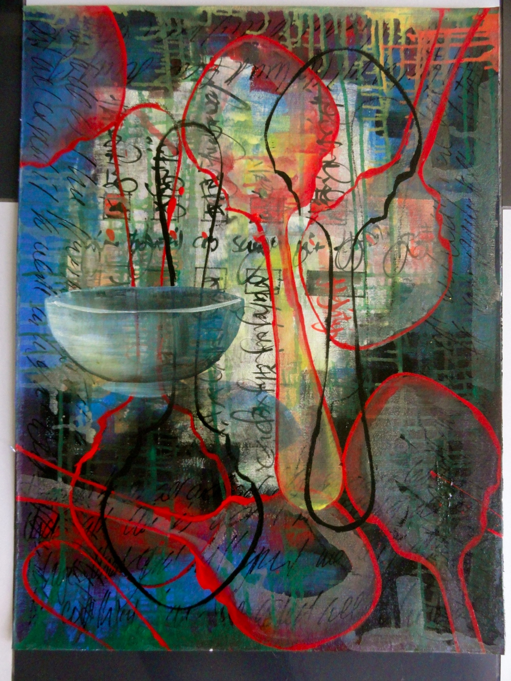 Cheryl Penn Painting Asemic writing  The Authentic Massacre of the Innocent Image